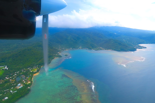 Samoa from the air