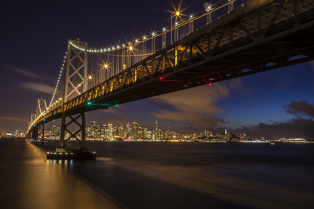San Francisco Bay Bridge At Night - Anthony Quintano