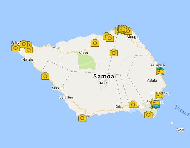 Savaii Island Guide Map