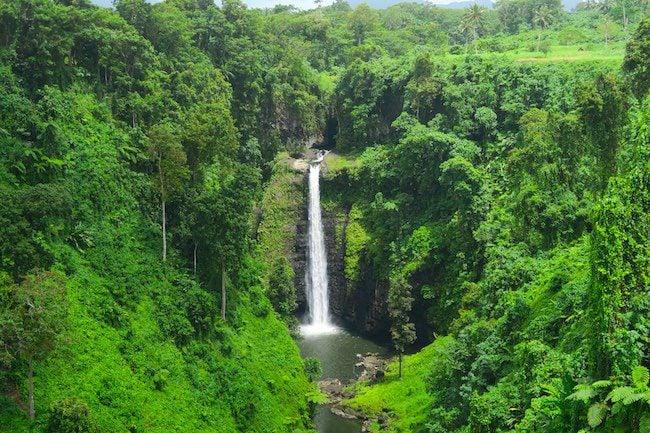 Sopoaga Tropical Waterfall Samoa