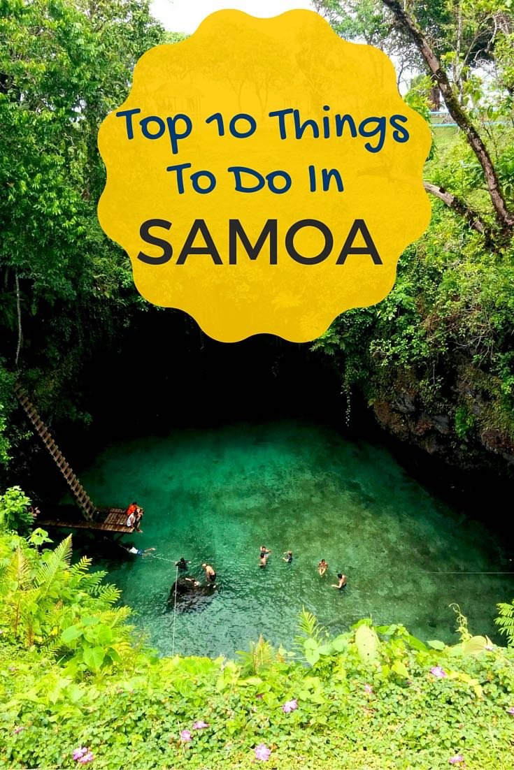 Top Things To Do In Samoa - Pinterest Cover