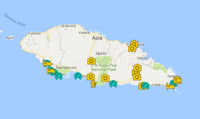 upolu island guide map