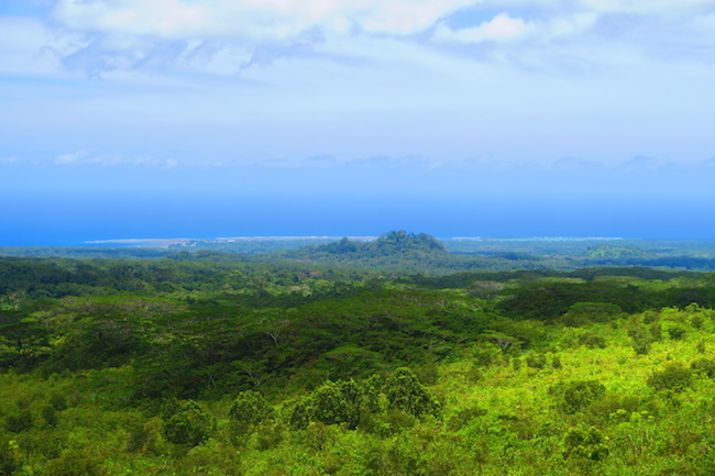 View from mount matavanu volcano savaii samoa