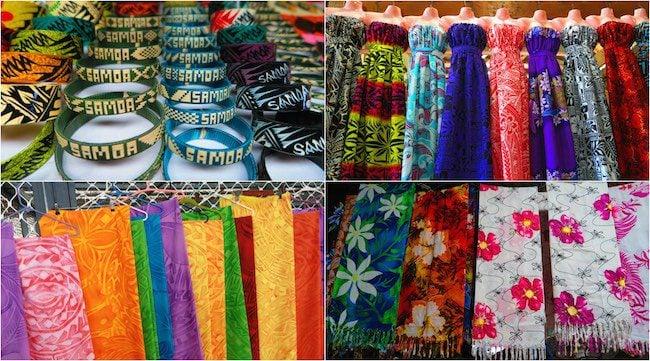 buying souvenirs apia flea market samoa