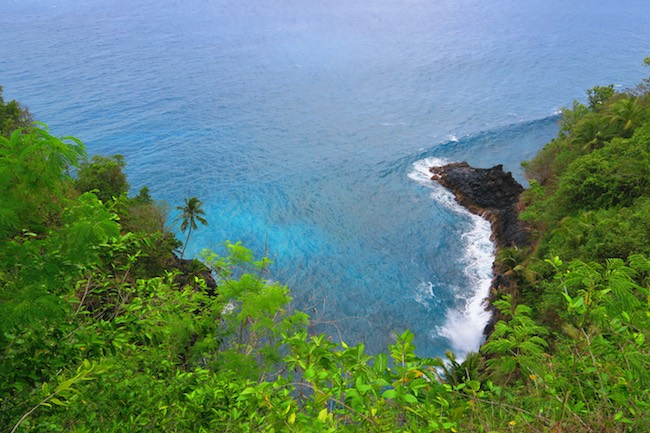 lovers leap panoramic view savaii samoa
