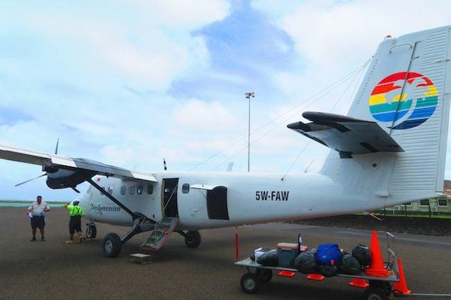 polynesia airlines flight from samoa to american samoa