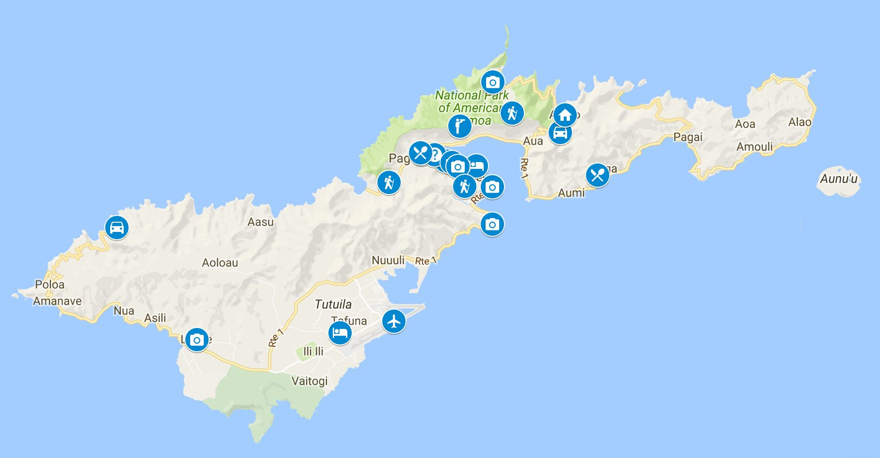 10 days in american samoa itinerary map