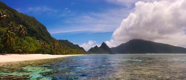 10 Days In American Samoa sample itinerary - Ofu Beach Panoramic View