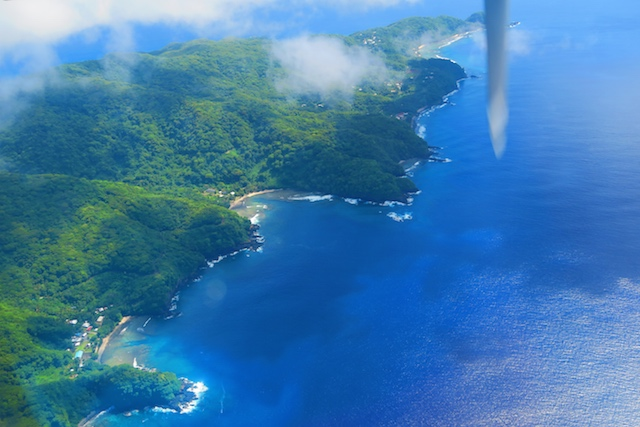 American Samoa from the air