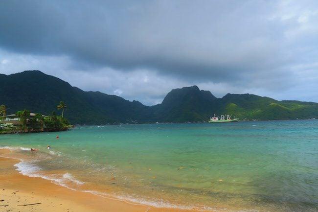 Beach in Pago Pago American Samoa