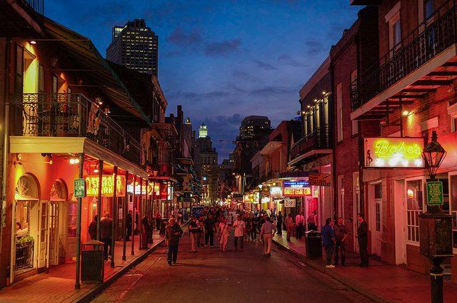 Bourbon Street New Orleans BY Lars Ploughman