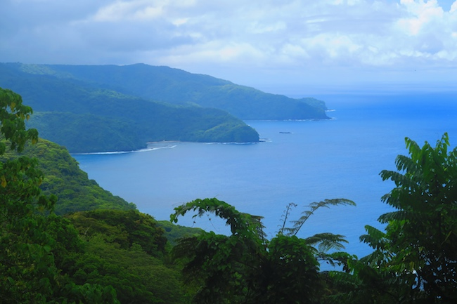 Fagasa Bay and Massacre Bay from Alava Trail American Samoa