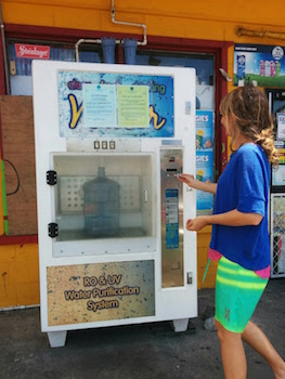 Filtered water vending machine american samoa pago pago