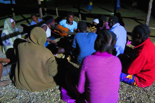 John Frum Cargo Cult in Tanna Island Vanuatu - Singing At Night