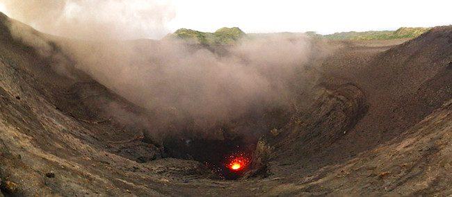 Mount Yasur Volcano Tanna Island Vanuatu - Panoramic View