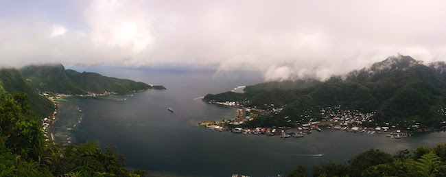 Pago Pago Harbor From Mount Alava American Samoa