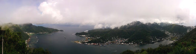 Panoramic View of Pago Pago from Mount Alava - American Samoa Hike