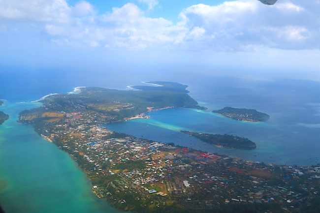 Port Vila Vanuatu's Capital City - From The Air