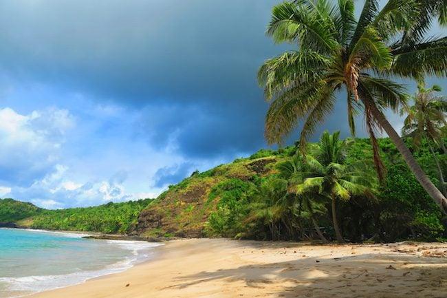 Anaho Bay Beach Nuku Hiva Marquesas Islands