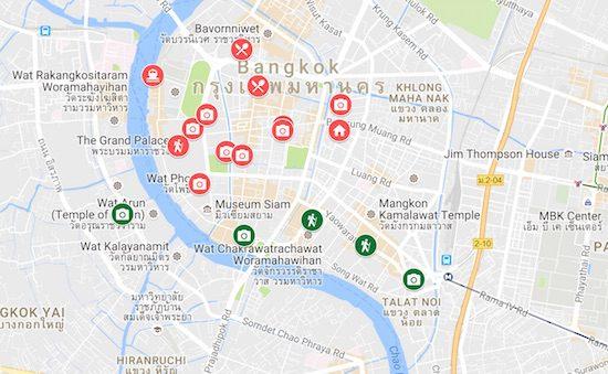 3-days-in-bangkok-itinerary-map