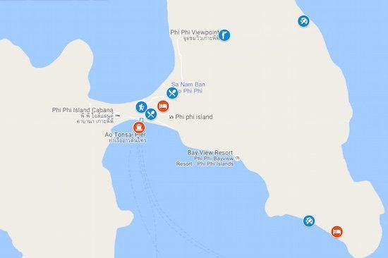 4-days-in-ko-phi-phi-sample-itinerary-map