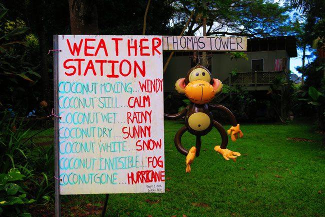 Funny sign in Waipio Valley - Big Island Hawaii