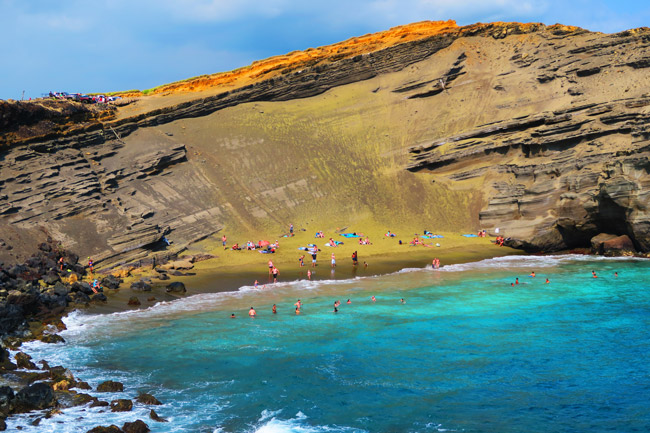 Green Sand Beach - Big Island Hawaii