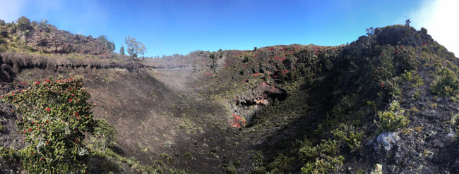 Hualalai Mountain Big Island Hawaii - panoramic view from summit