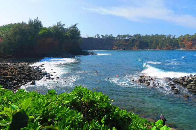 Keokea Beach Park Big Island Hawaii picnic spot