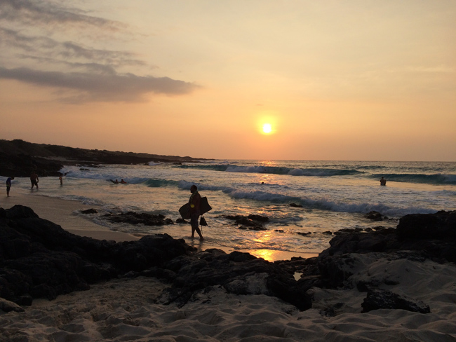 Magic Sand Beach Kona Hawaii - sunset