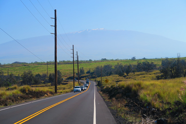 Mauna Kea from road to Waimea - Big Island Hawaii