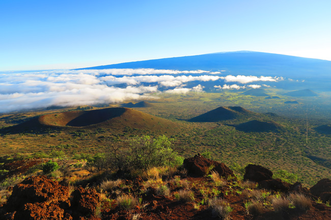 Mauna Loa and craters from Mauna Kea - Big Island Hawaii