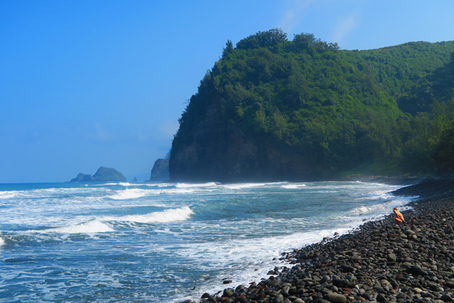 Pololu Valley Beach - Big Island Hawaii