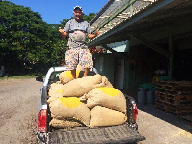 Roasting Kona Coffee - Lilikoi Inn Kona Hawaii