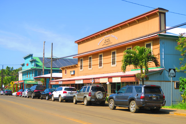 Town of Hawi - Big Island Hawaii
