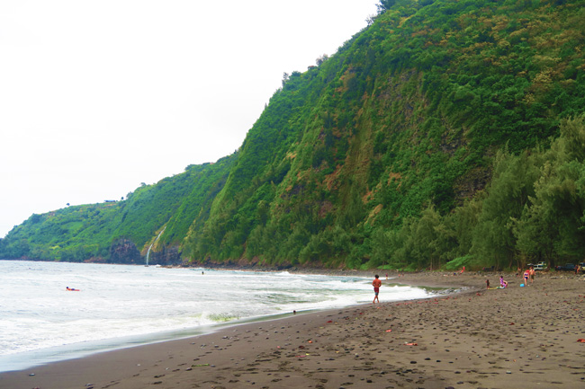 Waipio Valley Beach - Big Island Hawaii