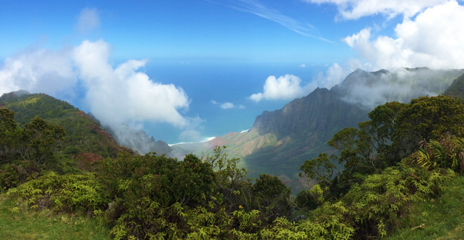 5 Days In Kauai Sample Itinerary - Kalalau Lookout panoramic view Hawaii