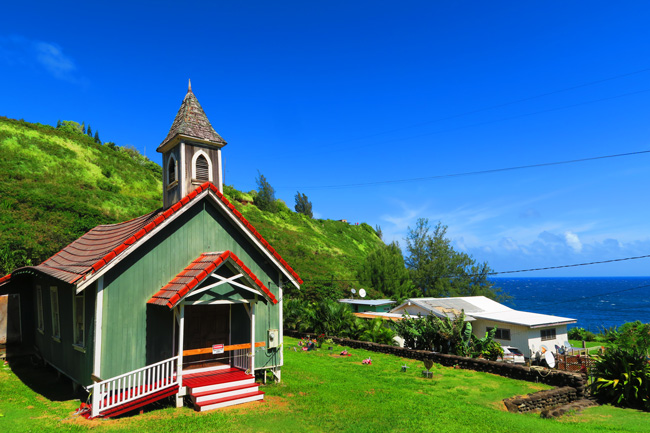 Church in Kahakuloa Village
