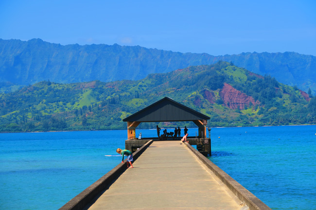 Hanalei Bay Beach - Kauai - Hawaii - Pier