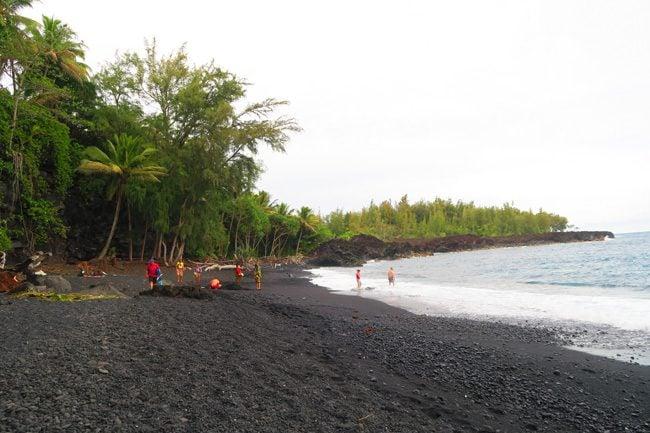 Kehena Black Sand Beach - Big Island Hawaii