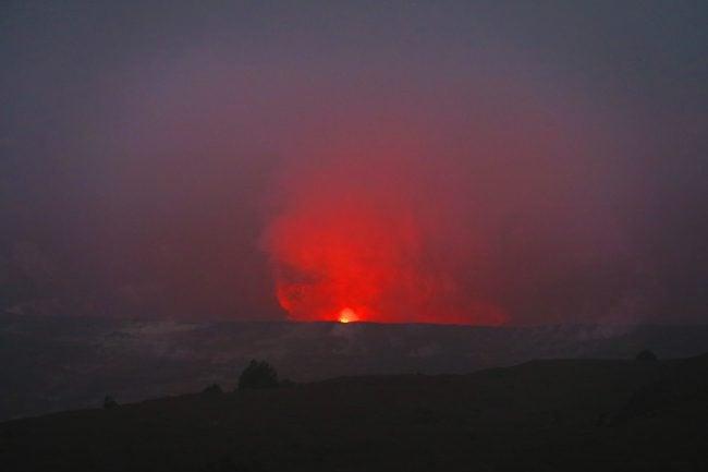 Lava Viewing - Jaggar Museum - Volcano National Park - Big Island Hawaii