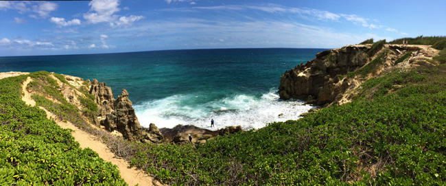 Mahaulepu Heritage Coastal Trail Kauai - Hawaii - panoramic view