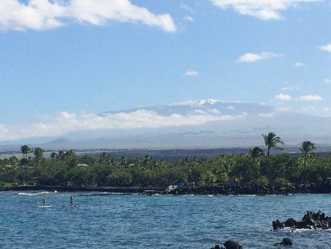 Mauna Kea from Mauna Lani Beach - Big Island Hawaii