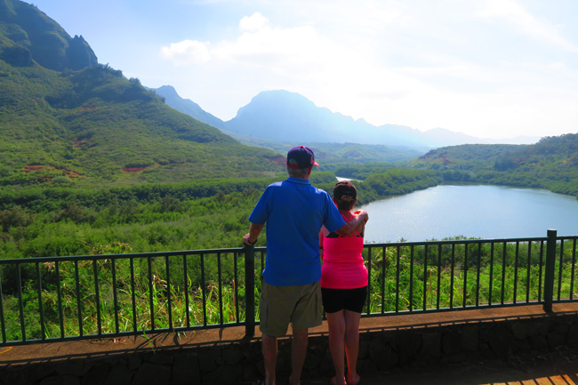 Menehune Fishpond Overlook - Kauai Hawaii