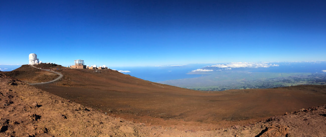 Observatories - Haleakala Summit - Maui Hawaii panoramic view