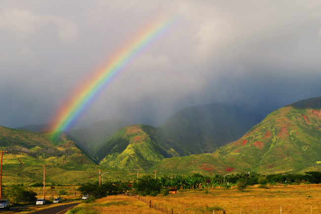 Rainbow in West Maui Hawaii