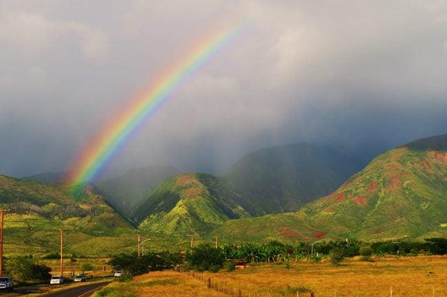 Rainbow in West Maui Hawaii
