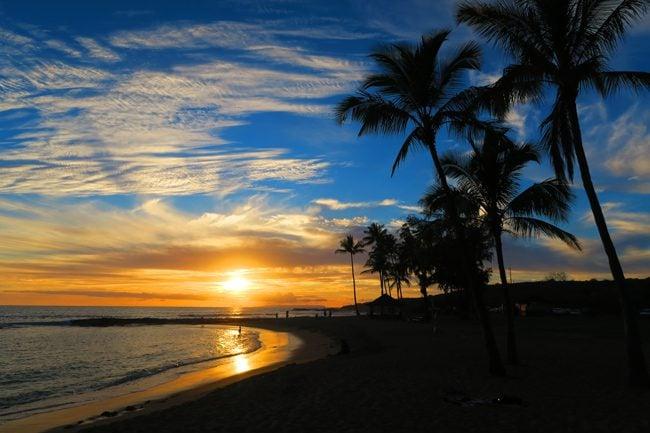 Salt Pond Beach - sunset in Kauai - Hawaii