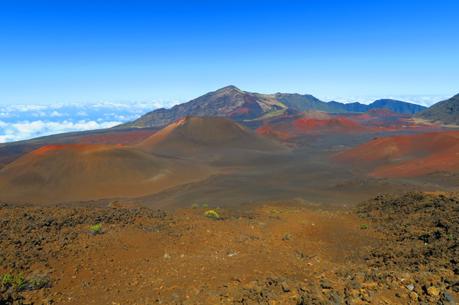 Sliding Sands Hike - Haleakala Crater - Maui Hawaii - cinder cones