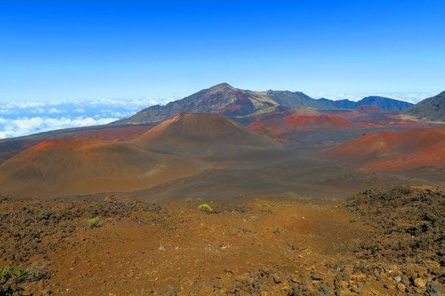 Sliding Sands Hike - Haleakala Crater - Maui Hawaii - cinder cones